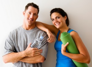 Happy Couple After Yoga Class