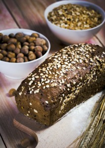 Loaf of Bread and Whole Grains
