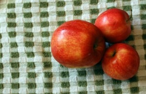 Apples on Checkered Cloth