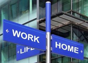 Work Home Life sign