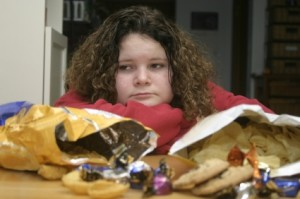 Teen Girl with Potato Chips