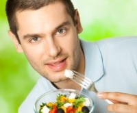 Man with Healthy Salad