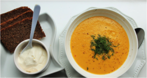 Soup with sour cream
